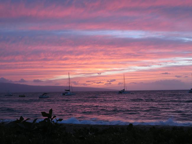 Coucher de soleil au milieu du Pacifique